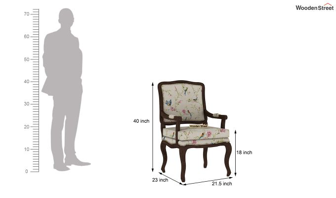 Kelvin Arm Chair (Linen, Cream Robins)-4