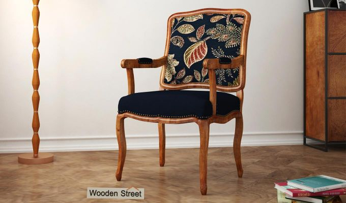 Kelvin Arm Chair (Fabric, Dusky Leaf)-1