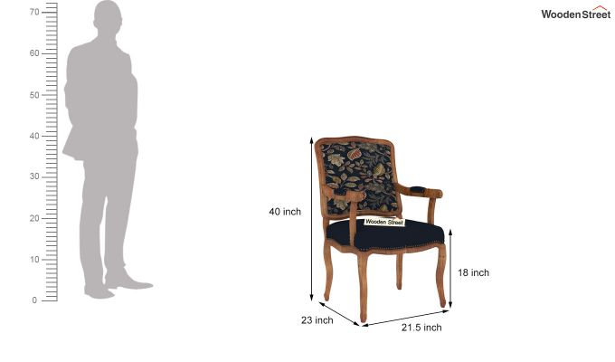 Kelvin Arm Chair (Fabric, Dusky Leaf)-4