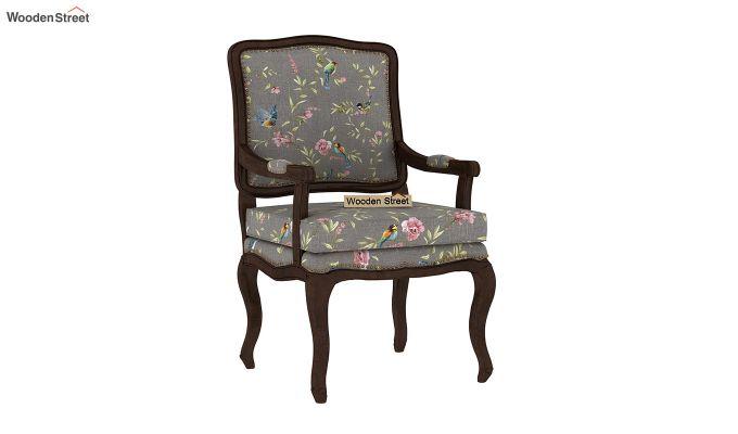 Kelvin Arm Chair (Linen, Grey Robins)-2