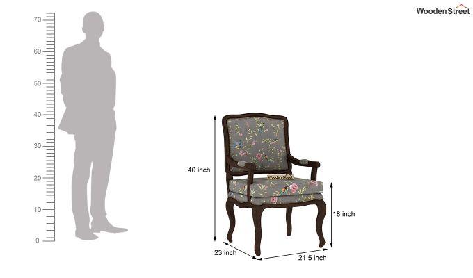 Kelvin Arm Chair (Linen, Grey Robins)-4