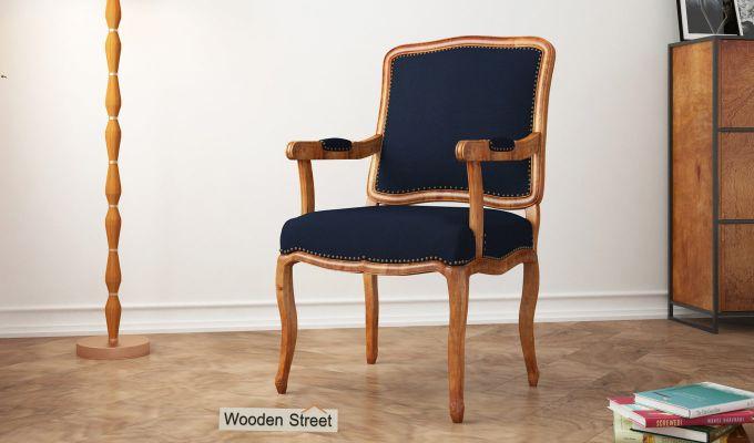Kelvin Arm Chair (Fabric, Indigo Ink)-1