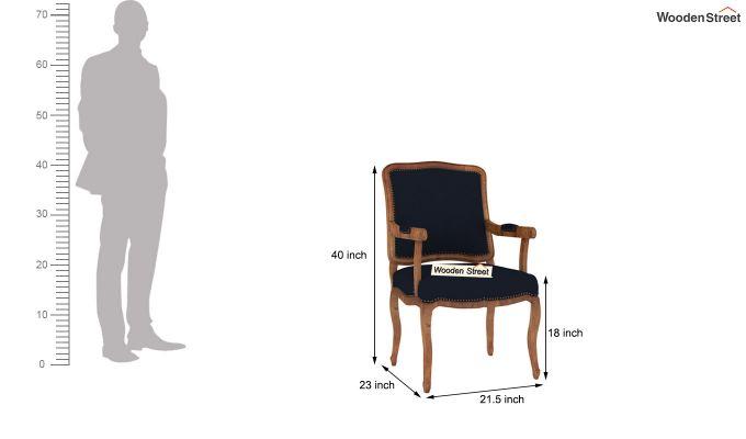 Kelvin Arm Chair (Fabric, Indigo Ink)-4