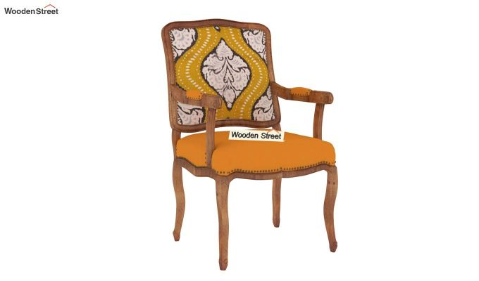 Kelvin Arm Chair (Fabric, Mustard Coral)-2