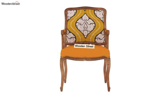 Kelvin Arm Chair (Fabric, Mustard Coral)-3