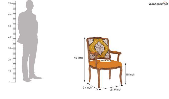 Kelvin Arm Chair (Fabric, Mustard Coral)-4
