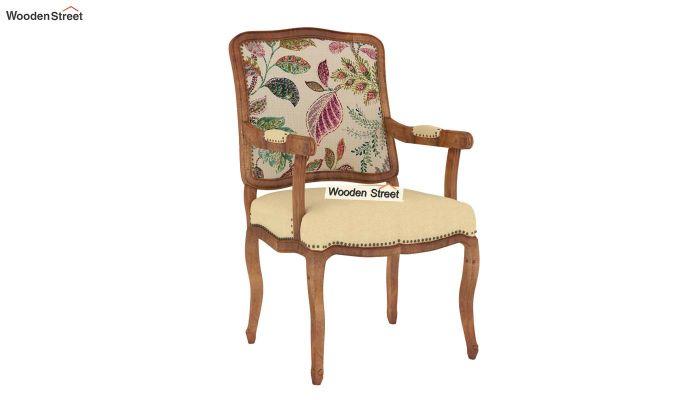 Kelvin Arm Chair (Fabric, Rosy Leaf)-2