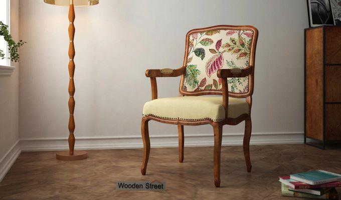 Kelvin Arm Chair (Fabric, Rosy Leaf)-1