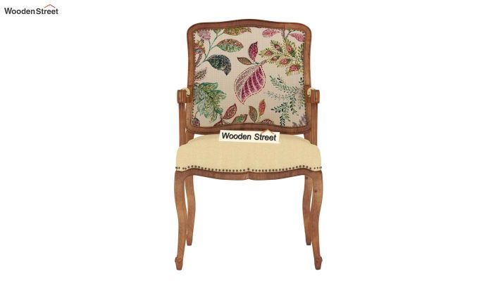 Kelvin Arm Chair (Fabric, Rosy Leaf)-3