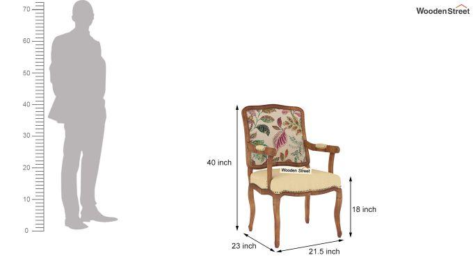Kelvin Arm Chair (Fabric, Rosy Leaf)-4
