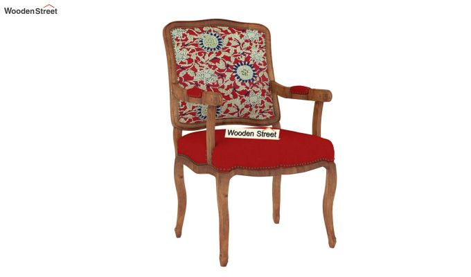 Kelvin Arm Chair Printed Fabric (Scarlet Blue)-2