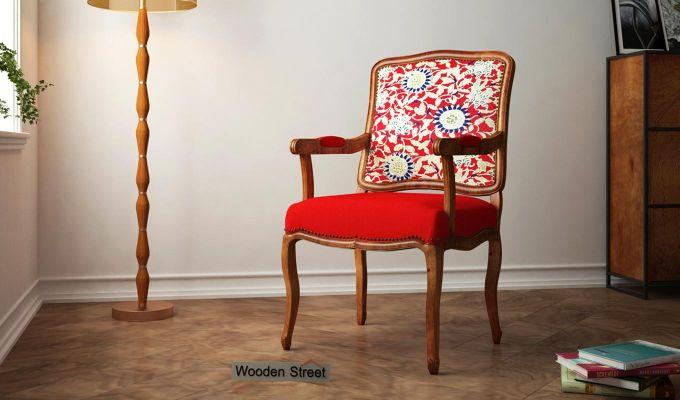 Kelvin Arm Chair Printed Fabric (Scarlet Blue)-1
