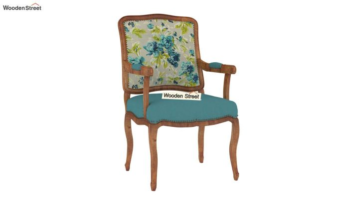 Kelvin Arm Chair (Fabric, Teal Tulip)-2