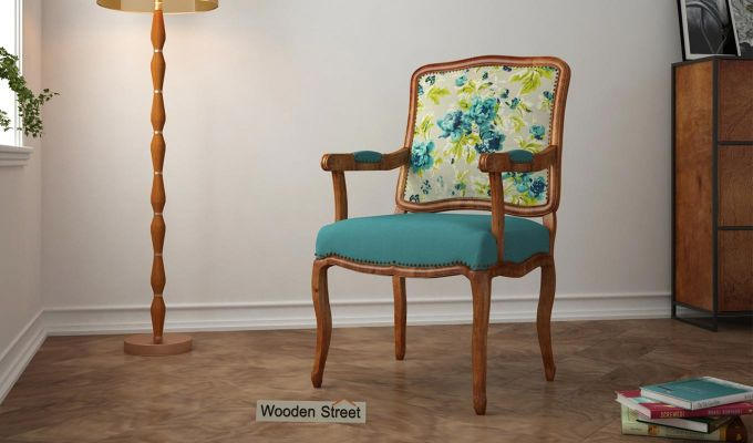 Kelvin Arm Chair (Fabric, Teal Tulip)-1