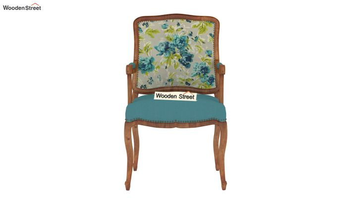 Kelvin Arm Chair (Fabric, Teal Tulip)-3