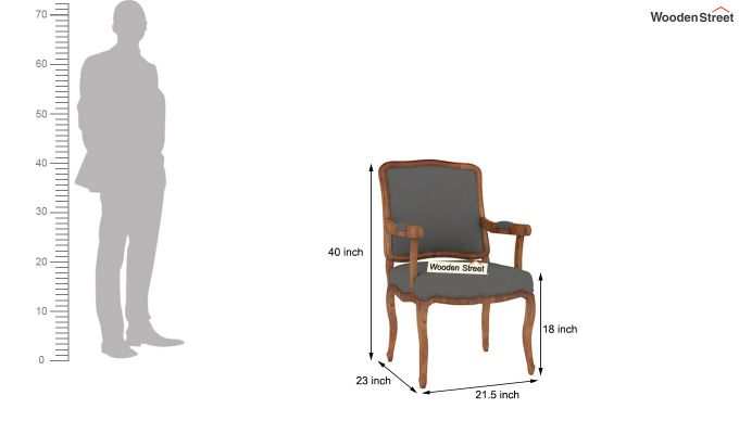 Kelvin Arm Chair (Warm Grey)-4