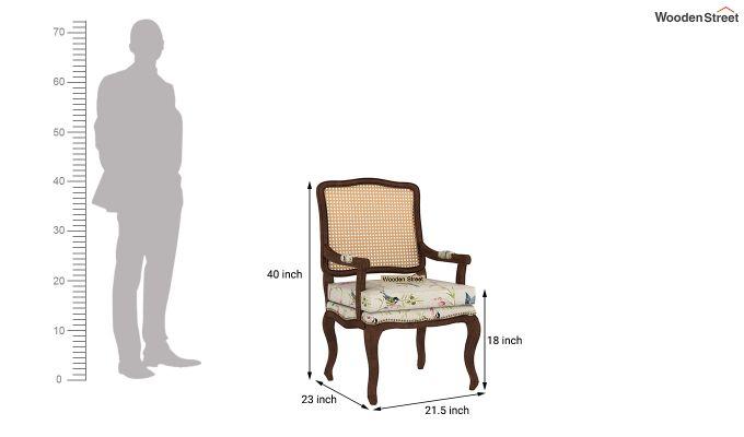 Kelvin Arm Chair with Cane (Linen, Cream Robins)-4
