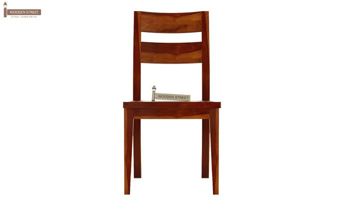 Kiplin Dining Chair without Fabric (Honey Finish)-2