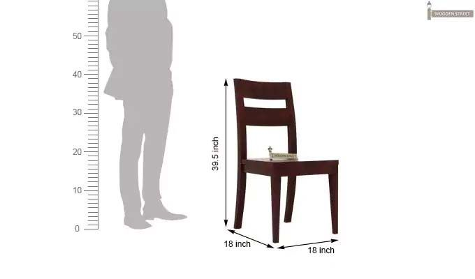 Kiplin Dining Chair without Fabric (Mahogany Finish)-3