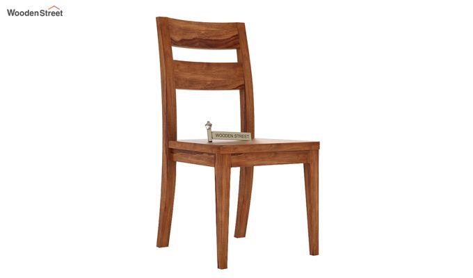 Kiplin Dining Chair without Fabric (Teak Finish)-1
