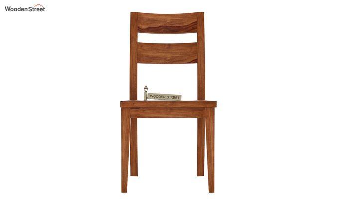 Kiplin Dining Chair without Fabric (Teak Finish)-2