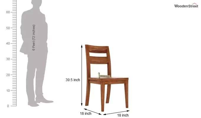 Kiplin Dining Chair without Fabric (Teak Finish)-3