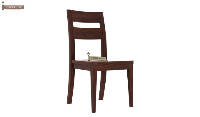 Kiplin Dining Chair without Fabric (Walnut Finish)-1