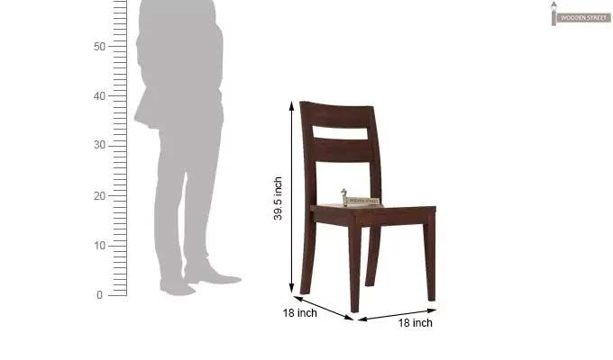 Kiplin Dining Chair (Walnut Finish)-3
