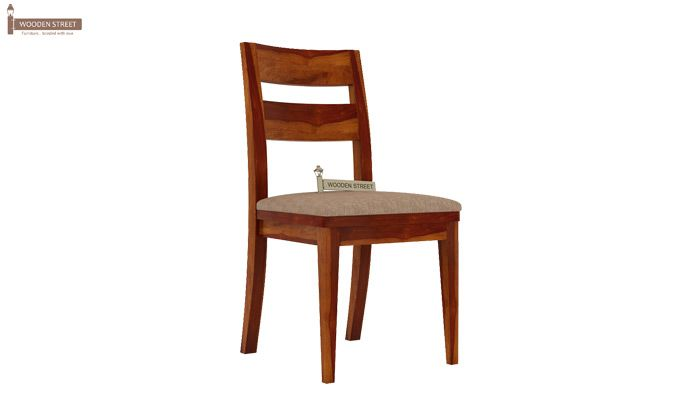Kiplin Dining Chair With Fabric (Honey Finish)-2