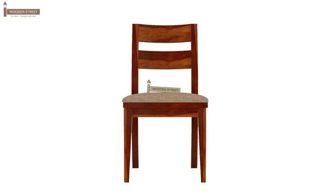 Kiplin Dining Chair With Fabric (Honey Finish)-3