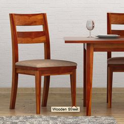 Kiplin Dining Chair With Fabric (Honey Finish)
