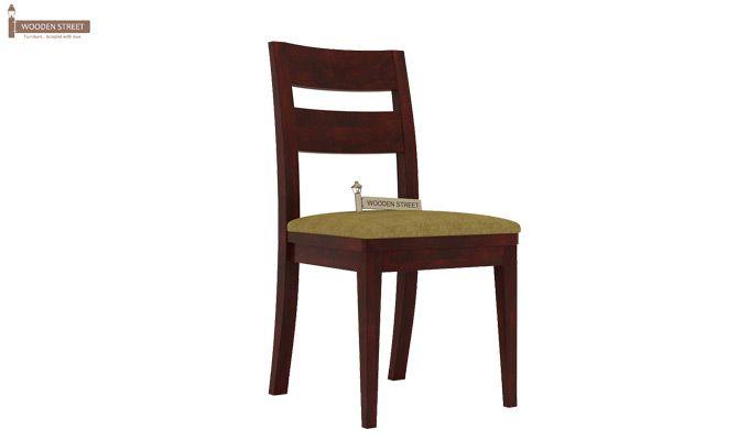 Kiplin Dining Chair With Fabric (Mahogany Finish)-1