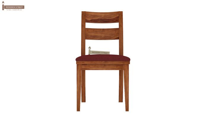 Kiplin Dining Chair With Fabric (Teak Finish)-2