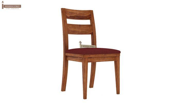 Kiplin Dining Chair With Fabric (Teak Finish)-1