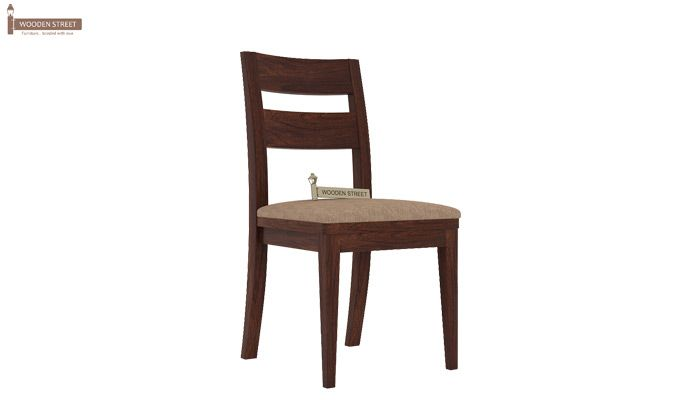 Kiplin Dining Chair With Fabric (Walnut Finish)-1
