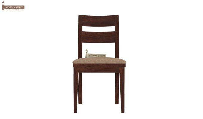 Kiplin Dining Chair With Fabric (Walnut Finish)-2