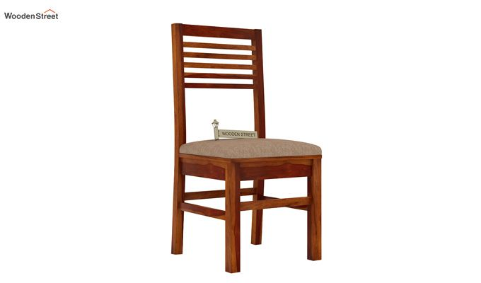 Lavina Dining Chair With Fabric (Honey Finish)-1