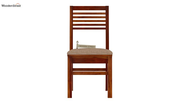 Lavina Dining Chair With Fabric (Honey Finish)-2