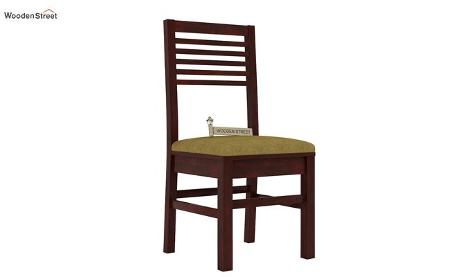 Lavina Dining Chair With Fabric (Mahogany Finish)-1