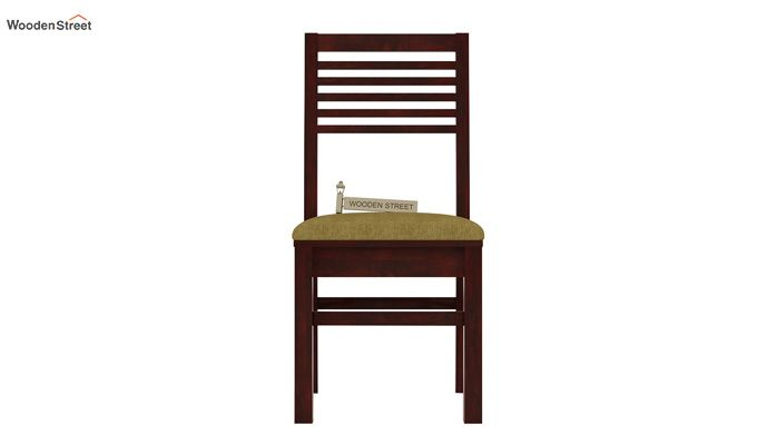 Lavina Dining Chair With Fabric (Mahogany Finish)-2