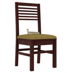 Lavina Dining Chair With Fabric (Mahogany Finish)