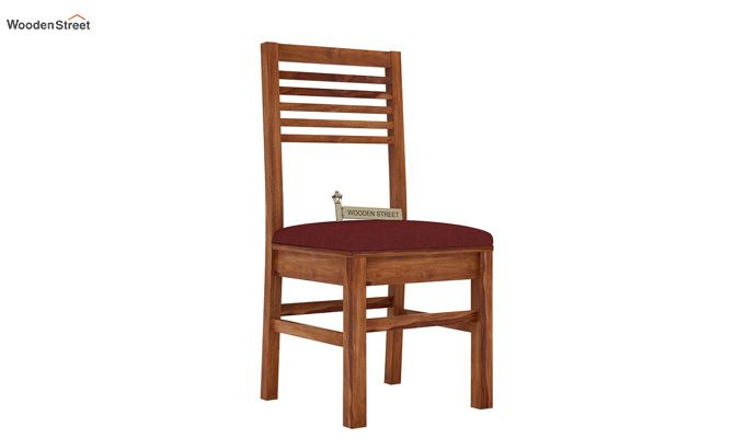 Lavina Dining Chair With Fabric (Teak Finish)-1