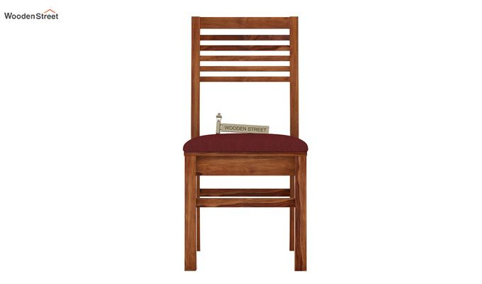 Lavina Dining Chair With Fabric (Teak Finish)-2