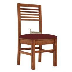 Lavina Dining Chair With Fabric (Teak Finish)