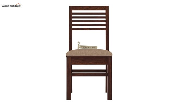 Lavina Dining Chair With Fabric (Walnut Finish)-2