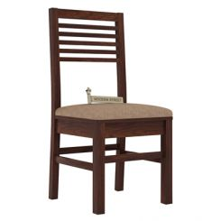 Lavina Dining Chair With Fabric (Walnut Finish)