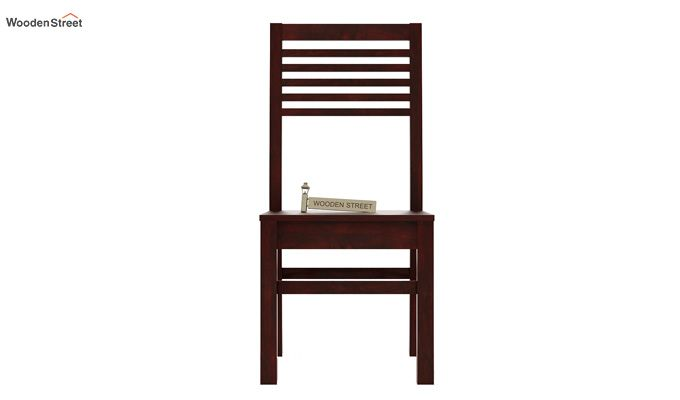 Lavina Dining Chair without Fabric (Mahogany Finish)-2