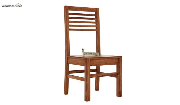 Lavina Dining Chair without Fabric (Teak Finish)-1