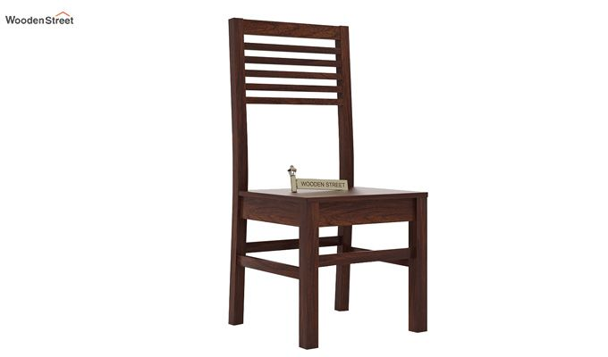 Lavina Dining Chair without Fabric (Walnut Finish)-1