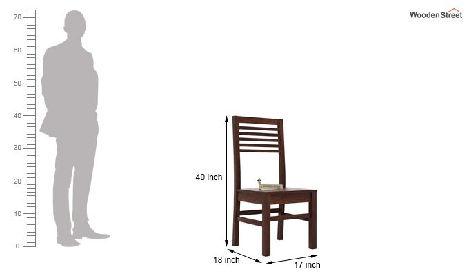 Lavina Dining Chair without Fabric (Walnut Finish)-3